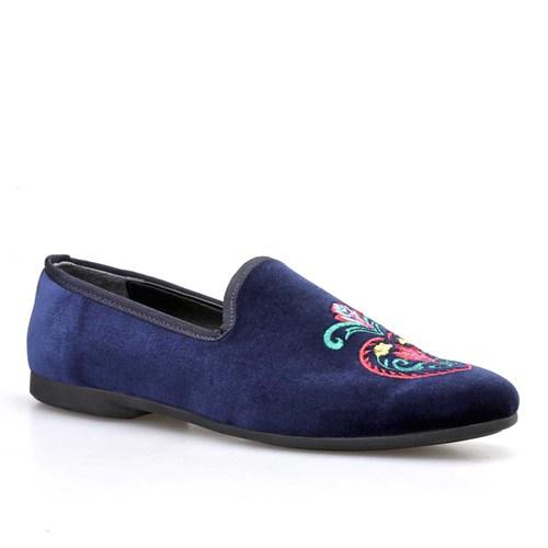 Cabani İşlemeli Kadın Ayakkabı Lacivert