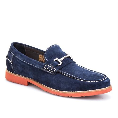 Cabani Tokalı Günlük Erkek Ayakkabı Lacivert Süet