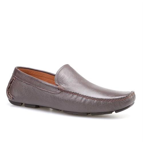 Cabani Makosen Günlük Erkek Ayakkabı Kahverengi Kırma Deri