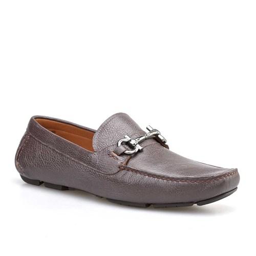 Cabani Tokalı Günlük Erkek Ayakkabı Kahverengi Kırma Deri
