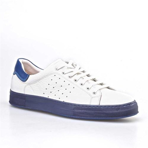 Cabani Bağcıklı Spor Erkek Ayakkabı Beyaz Soft Deri