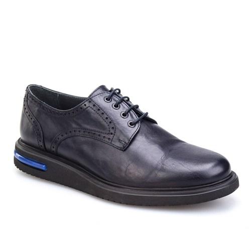 Cabani Oxford Günlük Erkek Ayakkabı Lacivert Antik Deri