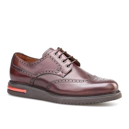 Cabani Oxford Günlük Erkek Ayakkabı Kahverengi Deri