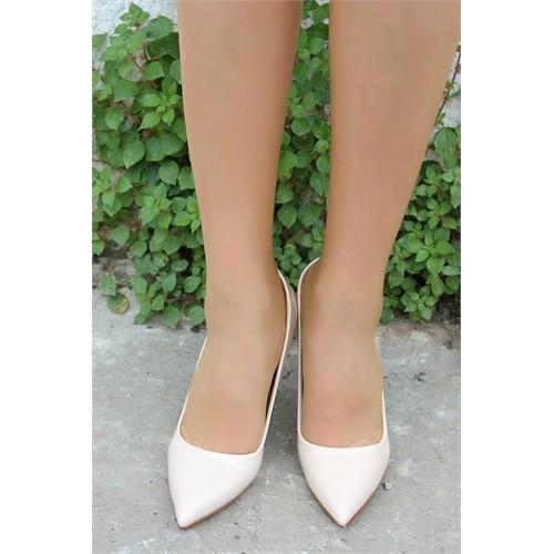 Pembe Potin İvana Karamel Rugan Ayakkabı