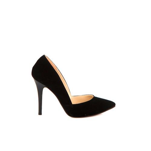 Pembe Potin Capya Siyah Nubuk Ayakkabı