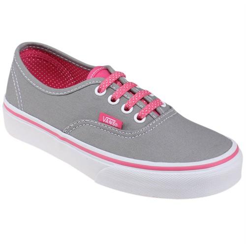 Vans Authentic Gri Pembe Erkek Çocuk Sneaker