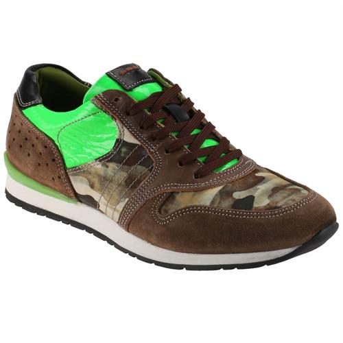 Coxx Mn2100 M 6686 Kahverengi Yeşil Erkek Deri Ayakkabı