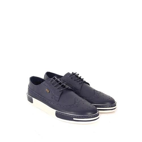 Gön Deri Erkek Ayakkabı 02301 Lacivert Antik