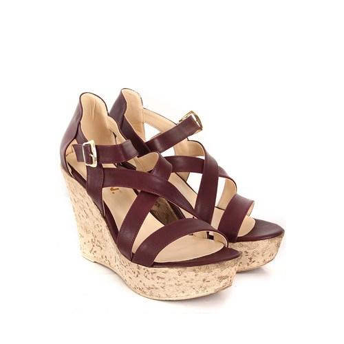 Gön Kadın Sandalet 36057 Bordo