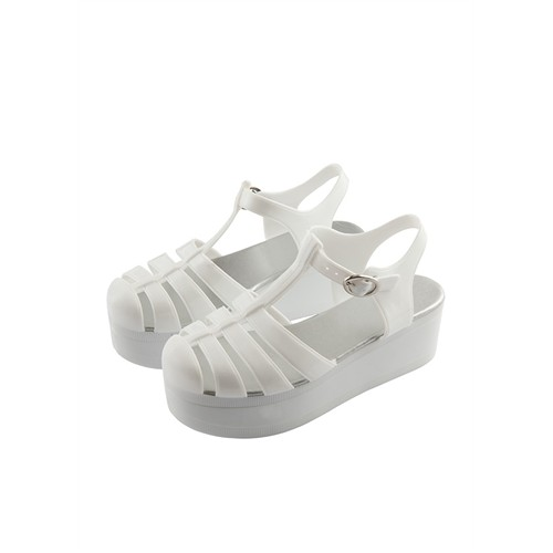Twigy Nanny White Yüksek Taban Beyaz Jelly Ayakkabı