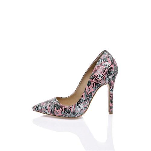 Los Ojo Pink Flora Topuklu Ayakkabı