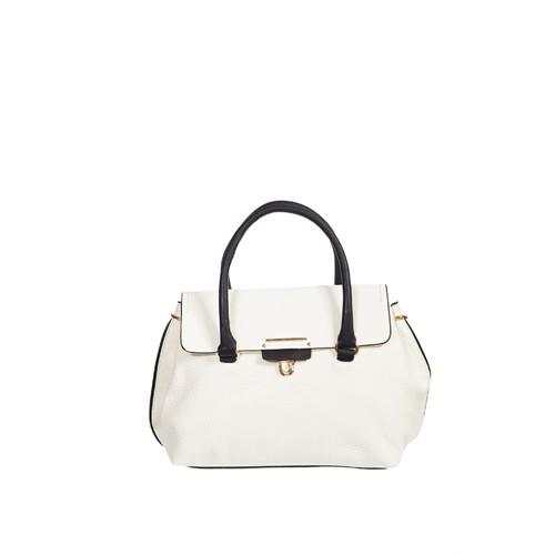 Gnc Bag Omuz Çantası Beyaz - Siyah GNC0104-0002
