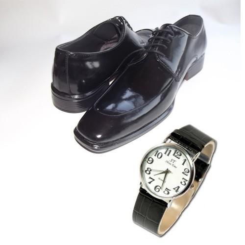 Klasik Erkek Kundura Ayakkabı + Kol Saati