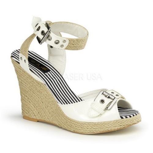 Pleaser Hasır Dolgu Tabanlı Ayakkabı