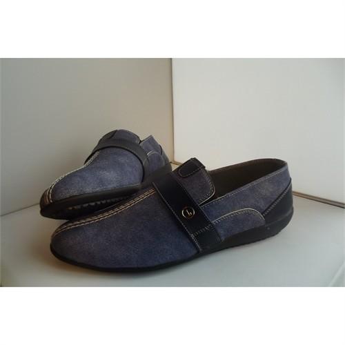 Kot Yüzeyli Lacivert Erkek Ayakkabısı