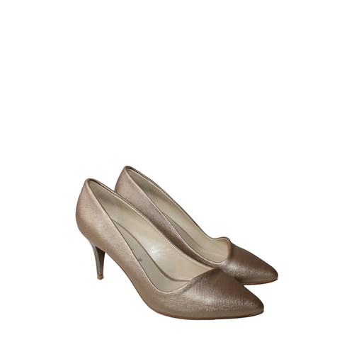 Mina Moor Ayakkabı Altın Klasik Kadın Ayakkabı - 11901