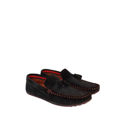 Sezer Kundura Ayakkabı Yeşil Nubuk Günlük Erkek Ayakkabı - 101