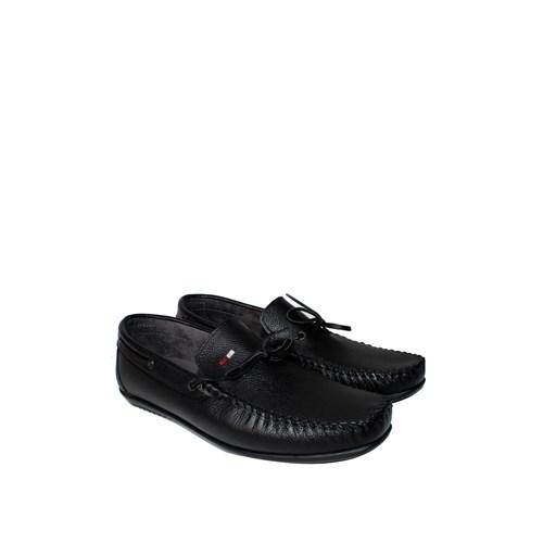 Sezer Kundura Ayakkabı Siyah Günlük Deri Erkek Ayakkabı - 105