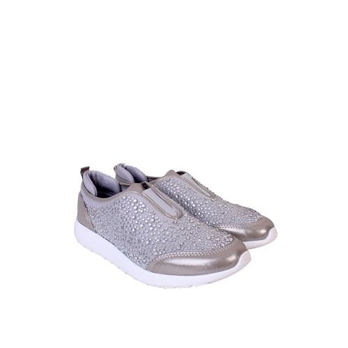 Marco Bellini Gri Taşlı Spor Kadın Ayakkabı - 993