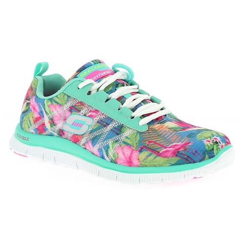 Skechers Flex Appeal Floral Bloom Bayan Spor Ayakkabı 12061-Aqmt