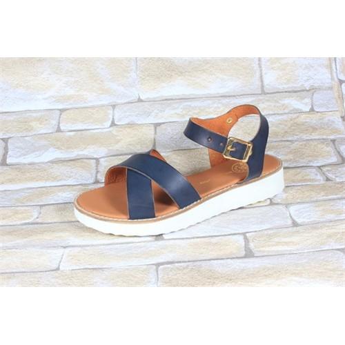 By Puix 254-1100 Lacivert Kadın Sandalet