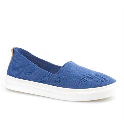 Cabani Bağcıksız Sneaker Kadın Ayakkabı Mavi Tekstil