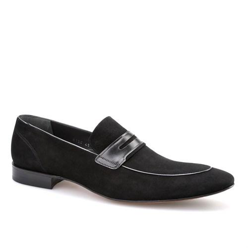 Cabani Kemerli Klasik Erkek Ayakkabı Siyah Süet
