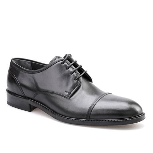 Cabani Bağcıklı Erkek Ayakkabı Siyah Analin Deri