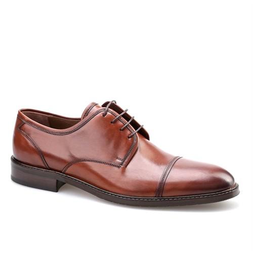 Cabani Bağcıklı Erkek Ayakkabı Kahverengi Deri
