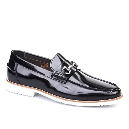 Cabani Tokalı Günlük Erkek Ayakkabı Siyah Açma Deri