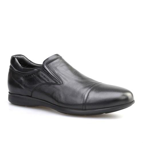 Cabani Bağcıksız Erkek Ayakkabı Siyah Deri