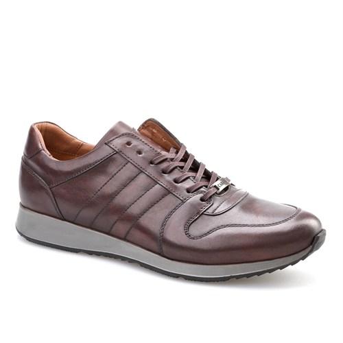 Cabani Bağcıklı Spor Günlük Erkek Ayakkabı Kahverengi Sanetta Deri