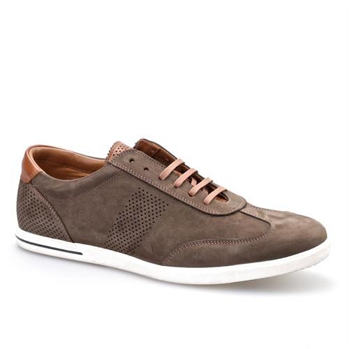 Cabani Bağcıklı Günlük Erkek Ayakkabı Kahverengi Nubuk