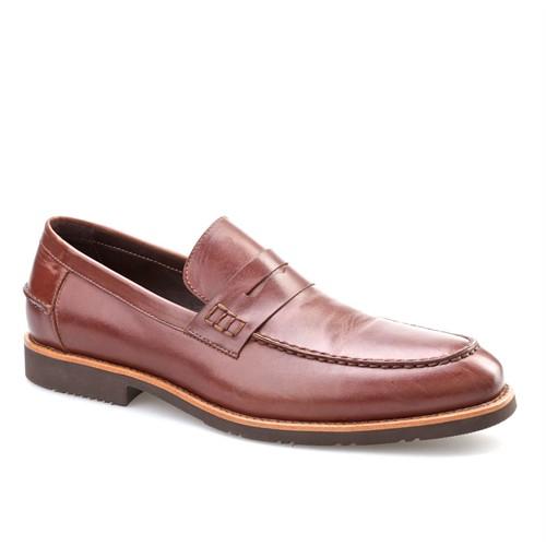 Cabani Kemerli Günlük Erkek Ayakkabı Kahverengi Sanetta Deri