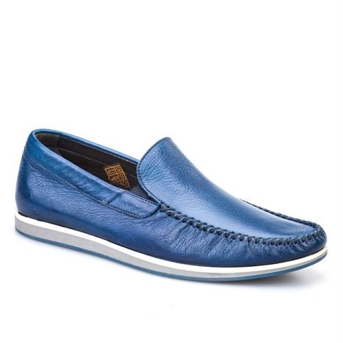 Cabani Bağcıksız Günlük Erkek Ayakkabı Mavi Napa Deri