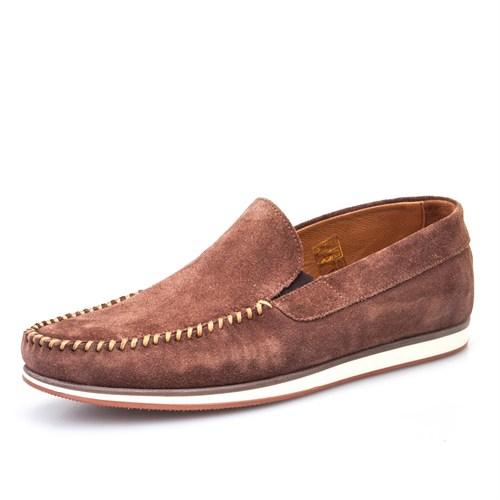 Cabani Bağcıksız Günlük Erkek Ayakkabı Siyah Nata Deri