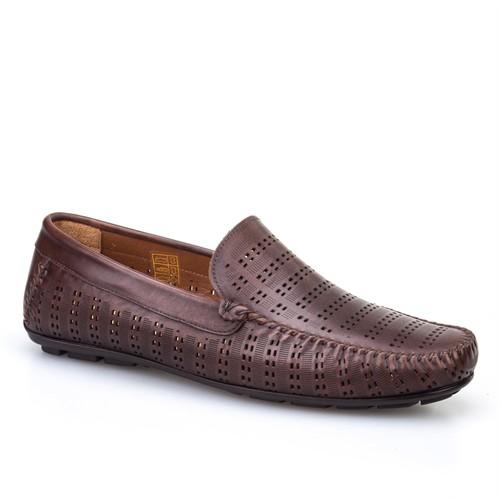 Cabani Lazerli Günlük Erkek Ayakkabı Kahverengi Sanetta Deri
