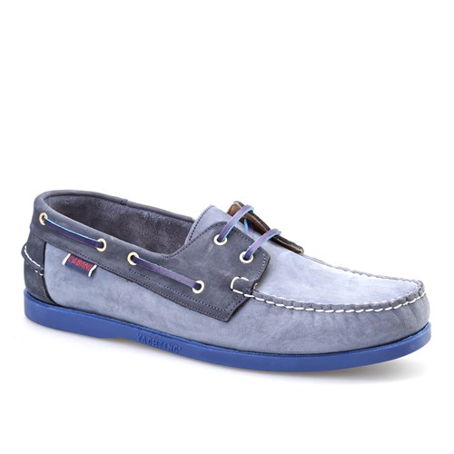 Cabani Marin Tekne Günlük Erkek Ayakkabı Lacivert Napa Deri