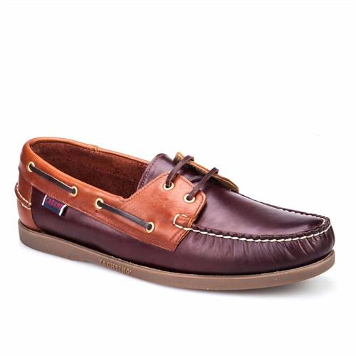 Cabani Marin Tekne Günlük Erkek Ayakkabı Lacivert Flap Deri