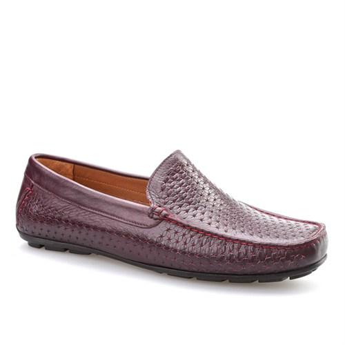 Cabani Makosen Günlük Erkek Ayakkabı Bordo Deri