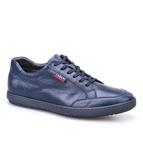 Cabani Bağcıklı Günlük Erkek Ayakkabı Lacivert Deri