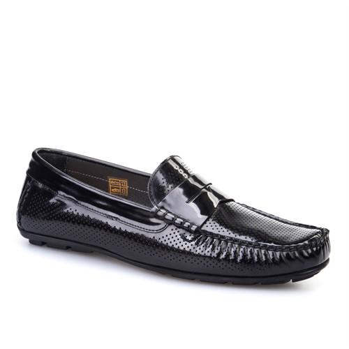Cabani Makosen Günlük Erkek Ayakkabı Siyah Açma Deri