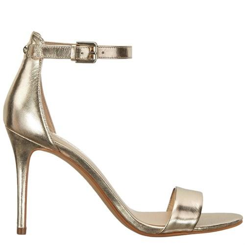 Nine West Nwmana Altın Gerçek Deri Topuklu Sandalet