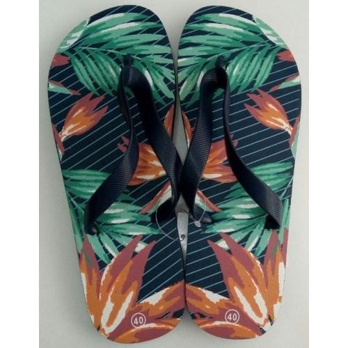 Hobi Store Palmiye3 Desenli Renkli Erkek Parmak Arası Terlik