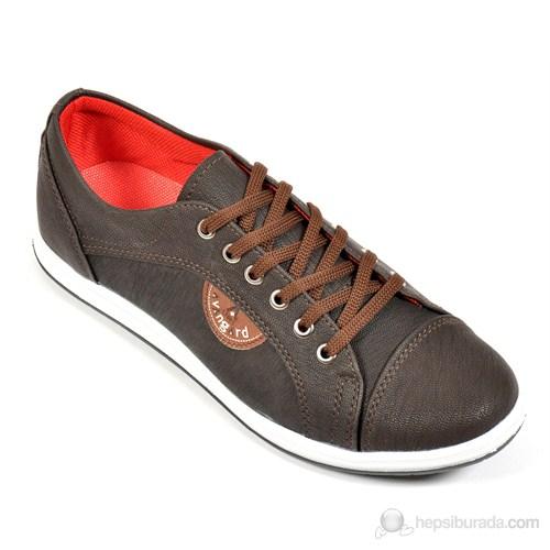 Avangard Erkek Bağcıklı Kahverengi Ayakkabı