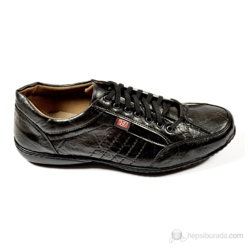 Y.T.S. Siyah Bağcıklı Erkek Ayakkabı
