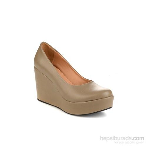 Bambi Kadın Topuklu Ayakkabı Vızon