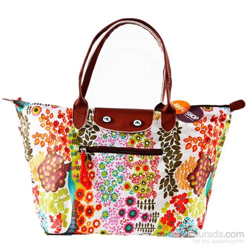 Bigg Fashion Çiçek Desenli Katlanabilir Çanta
