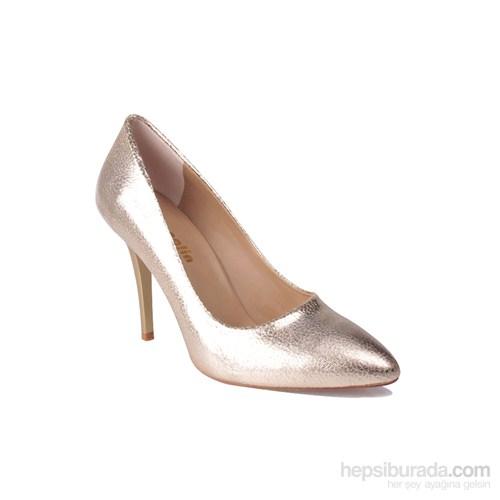 Loggalin Kadın Topuklu Ayakkabı Altın