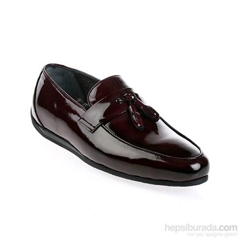 Derigo Erkek Klasik Ayakkabı Bordo Rugan